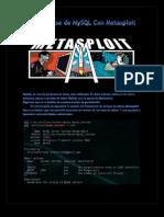 Atacar Base de MySQL Con Metasploit