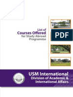 7. List of Courses Offered