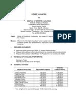 Citizen's Charter - IHK - Rental of Sports Facilities