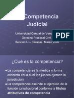 La Competencia Judicial