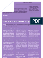 Data Protection and the eLogbook