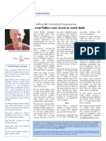 Great Fathers in Plunket Parenting Ezine May 2009