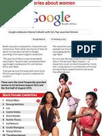 Google's top queries about women