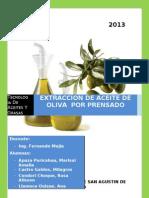 Extraccion de Aceite de Oliva Finallllll