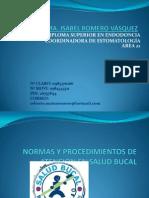 Normas y Procedimientos de Atencion en Salud Bucal