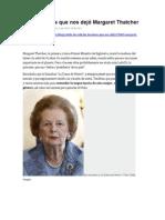 Las lecciones que nos dejó Margaret Thatcher