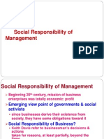 Social Responsibility of Management