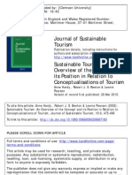 Sustainable Tourism, An Overview of the Concept Nad Its Position Relation to Conceptualization of Tourism