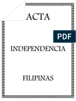 Acta Independencia Filipina