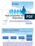 SAP Presenation_Role of Quantity Surveying Dept