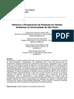Histórico e perspectivas da pesquisa em Gestão Ambiental na USP