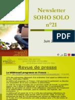 Newsletter Soho Solo n20 Juin09