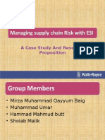 Managing supply chain Risk with ESI