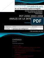 BORDES URBANOS BOGOTA_BORDE SUR_ EXPOSICION 3 DE NOVIEMBRE 2011.ppt