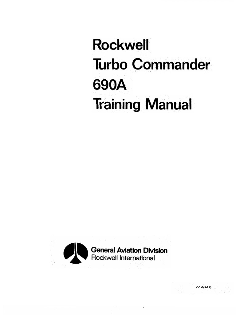 Turbo commander 690 a training manual rudder relay fandeluxe Choice Image