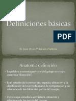 Definiciones Básicas de Anatomía