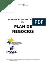 FORMATO PLAN DE NEGOCIOS FUNDACIÓN PANEL
