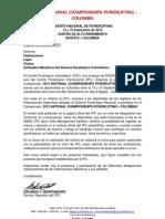 CONVOCATORIA ABIERTO NACIONAL DE POWERLIFTING PARALÃMPICA CPC SEP 2013