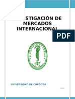 INVESTIGACION DE MERCADOS INTERNACIONAL 2012-1 Gustavo González