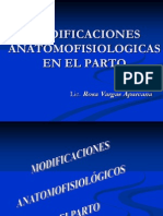 Modificaciones Anatomofisiologicas en El Parto