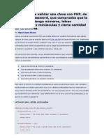 Función para validar una clave con PHP