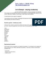 IELTS Essays - Introductions Vocabulary