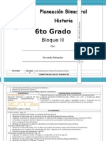 6to Grado - Bloque 3 - Historia