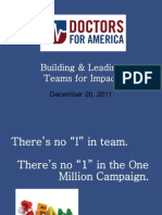 Doctors for America OMC - Teams Training