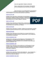 Norma Oficial Mexicana de Seguridad e Higiene Ambiental