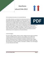 Manifiesto Innovación Cultural Chile 2013