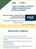 Politicas de Acceso a La Energia Uruguay- Gonzalez, Reyes y Zunino