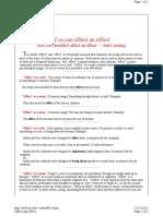 Affect & Effect