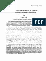 Albert Ellis - General Semantics and Rational-emotive Therapy
