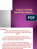 Public Storm Warning Signal