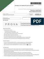 Fcc 2010 Trt 8a Regiao Pa e AP Tecnico Judiciario Area Administrativa Prova