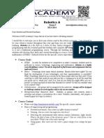 introduction to robotics syllabus  13-14 wee