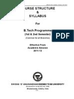 Syllabus Btech Iter (1st-2nd) - 2011-2012