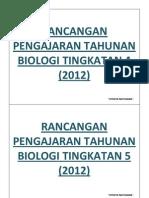 Rancangan Pengajaran Tahunan Biologi Tingkatan 4