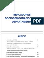 Indicadores Por Departamento 2012(1)
