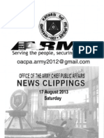 Philippine Army News Clippings