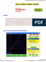 Analytical Geometry Graph Plotting Software