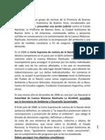 Acumar Fallo Mendoza