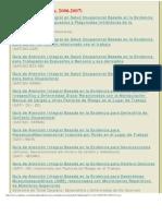 GATISO 10 Normas Guías de Atención Integral en Salud Ocupacional (Colombia; 2006-2007)