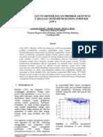 Dokumen 3221 Volume 9 Nomor 1 Juli 2008 Aplikasi Wavelet Stasioner Dalam Prediksi Aktivitas Strain Energy Release Gempabumi Di Zona Subduksi Jawa