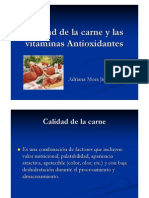 Calidad de La Carne y Las Vitaminas Antioxidantes