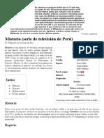 Misterio (serie de televisión de Perú) - Wikipedia, la enciclopedia libre