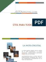 Pauta LaNotaDigital - Tarifas 2009