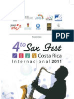 Programa SAX FEST COSTA RICA Internacional 2011