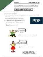 1er. Año - ALG - Guía 8 - Grado Absoluto y Grado R