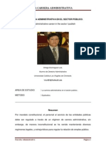 LA CARRERA ADMINISTRATIVA EN EL SECTOR PÚBLICO